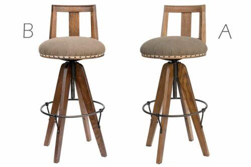 כסאות בר עגולים מושב מרופד