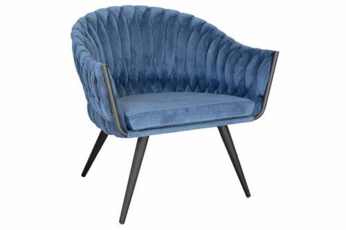 כורסא צמה כחולה
