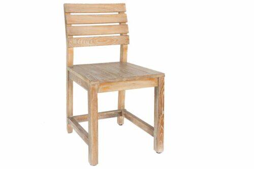 כסא אוכל מעץ אלון מלא