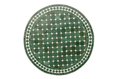שולחן פסיפס עגול בצבע ירוק