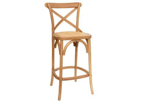 כסא בר כפרי מעץ