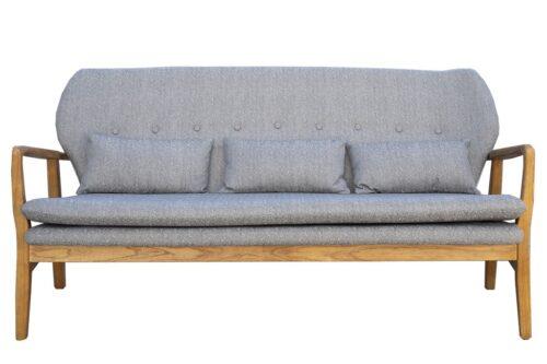 ספה תלת אפורה