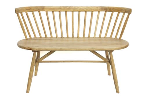 ספסל זוגי מעוצב מעץ